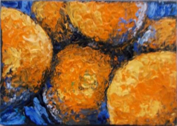 """Oranges"" original fine art by Camille Morgan"