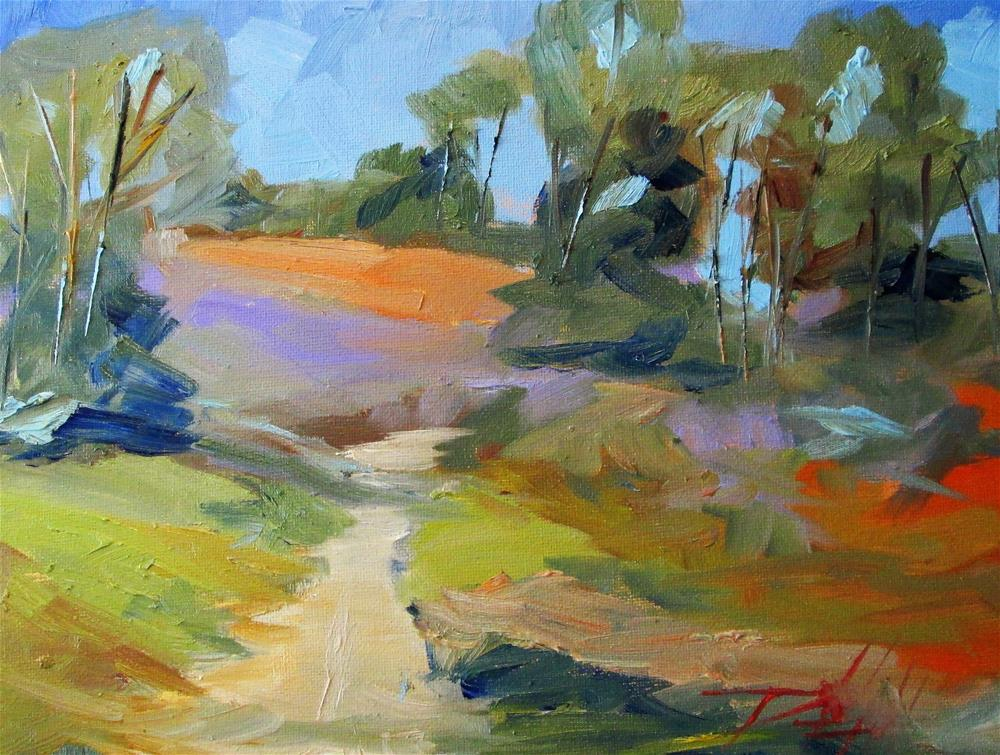 """Farm Lane"" original fine art by Delilah Smith"