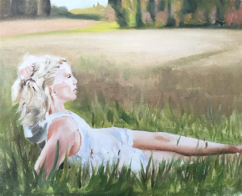 """In the Field"" original fine art by James Coates"