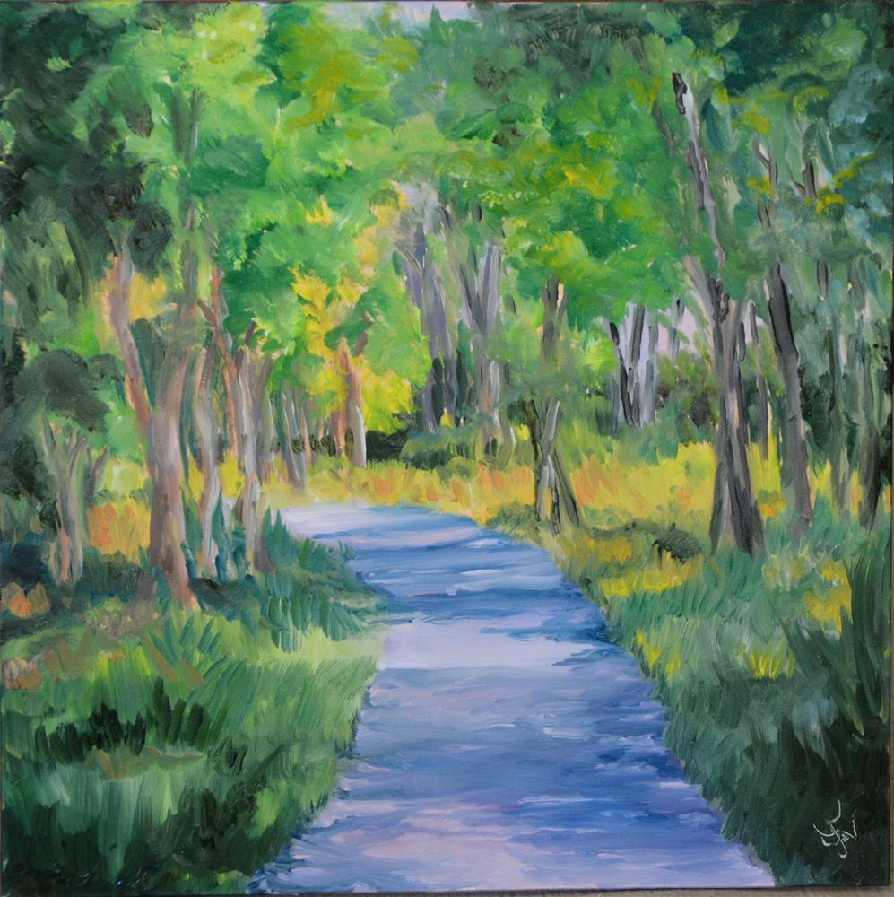 """Walking Augusta Canal"" original fine art by Jan Jackson"