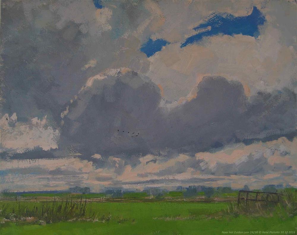 """Toward the South. Leer, Germany."" original fine art by René PleinAir"
