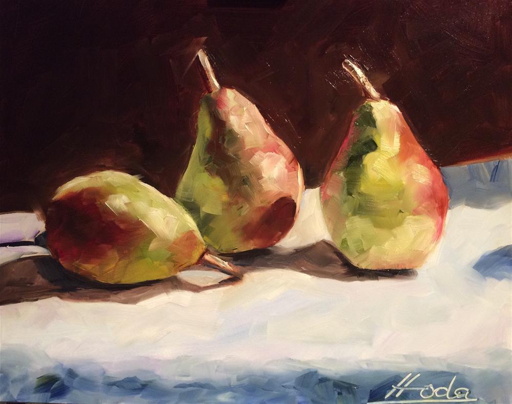 """The Pears"" original fine art by Hoda Nicholas"