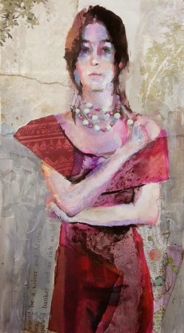 """""""Red Dress"""" original fine art by Katie Wilson"""