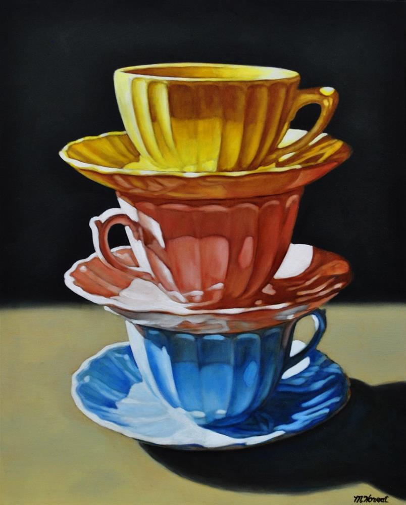 """""""Tea for Three"""" original fine art by Margaret Horvat"""
