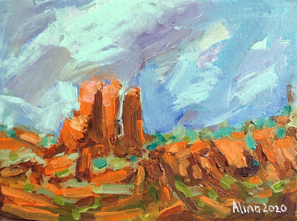 """Chimney Rock view"" original fine art by Alina Vidulescu"
