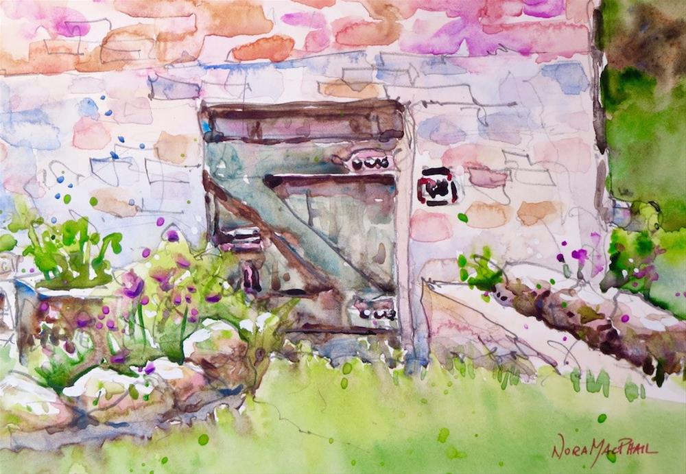 """""""hidden door"""" original fine art by Nora MacPhail"""