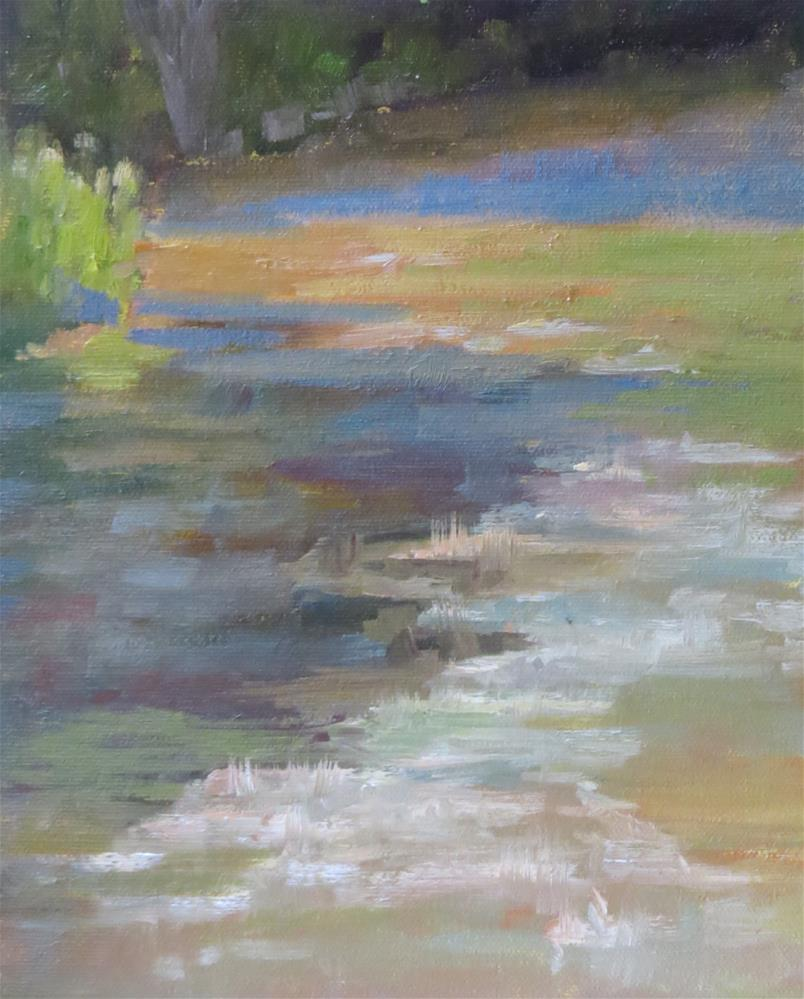 """""""Looking Up The River"""" original fine art by Pam Holnback"""
