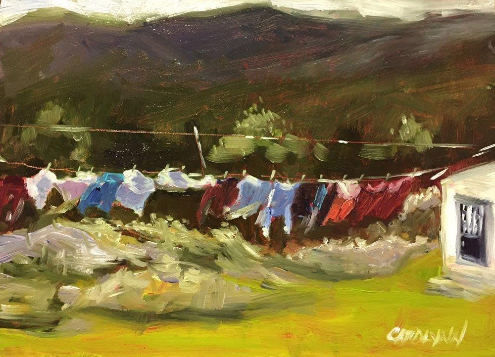 """In The Heat of the Day"" original fine art by Carolynn Doan"