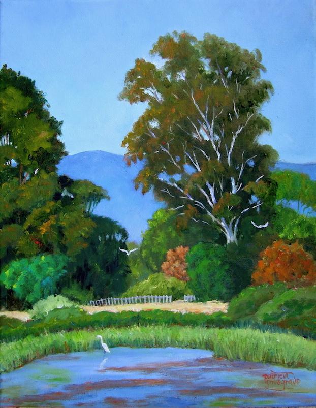 """""""Egrets at Baylands"""" original fine art by Patricia Musgrave"""
