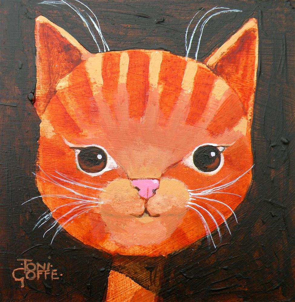 """Kitten"" original fine art by Toni Goffe"