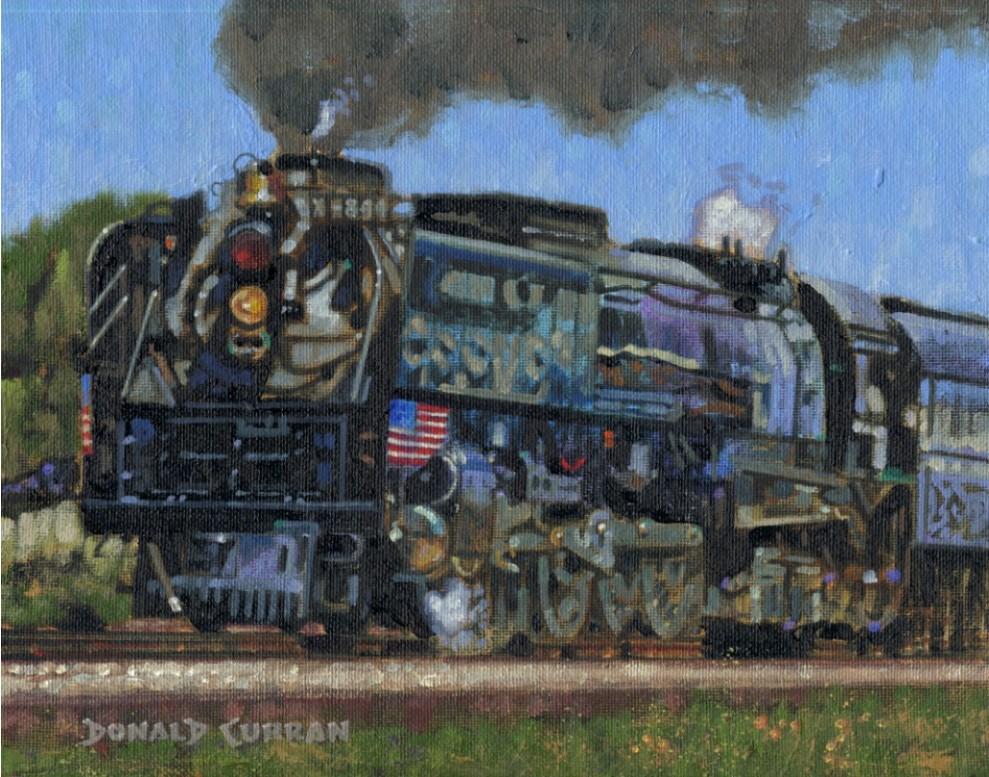 """Union Pacific 844"" original fine art by Donald Curran"