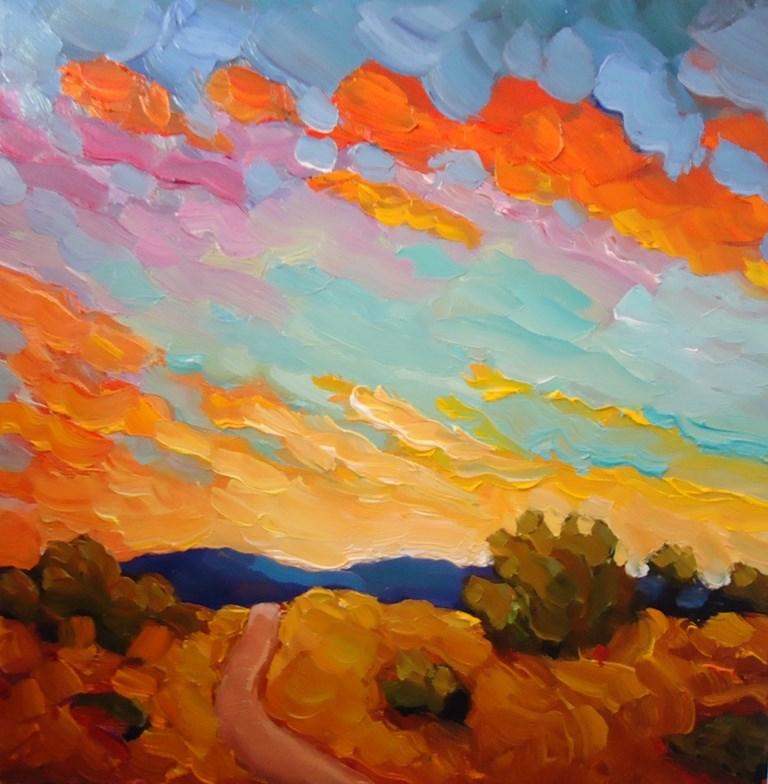"""""""128 LAST LIGHT"""" original fine art by Dee Sanchez"""