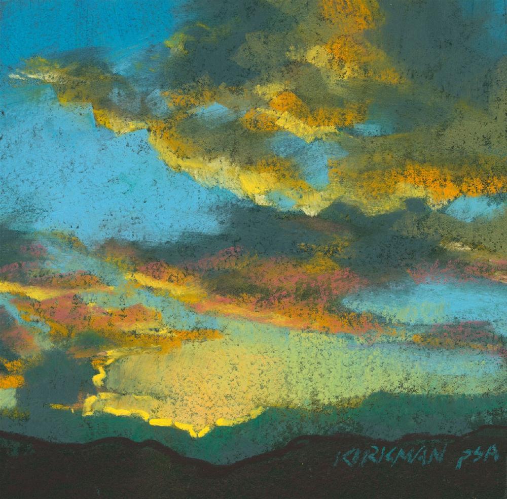 """""""Sunset #53"""" original fine art by Rita Kirkman"""