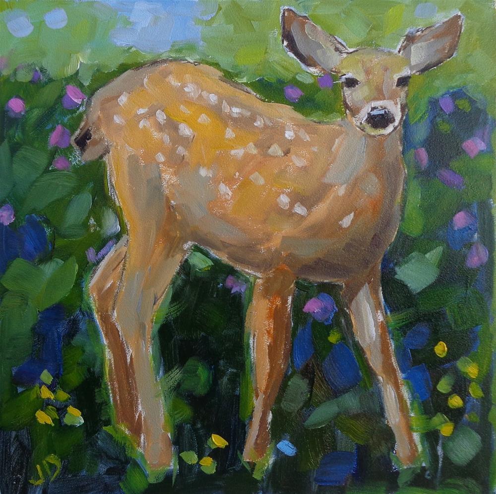 """""""LITTLE LOVELY"""" original fine art by Jean Delaney"""