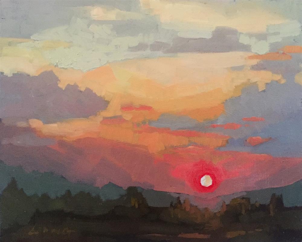 """""""Late Summer Sun"""" original fine art by Chris Long"""