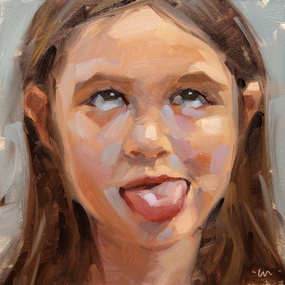 """Two tongues"" original fine art by Carol Marine"