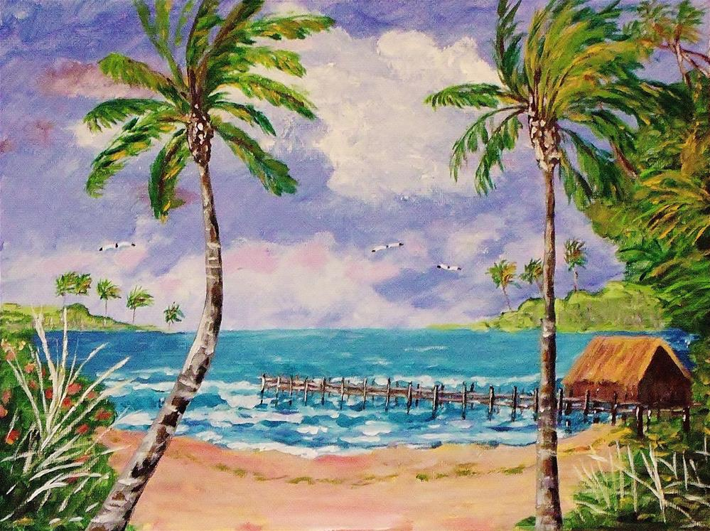 """Fishing Shack"" original fine art by Mike Caitham"