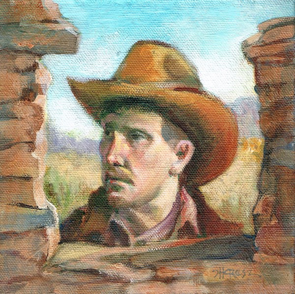 """Terlingua Joe"" original fine art by Theresa Taylor Bayer"