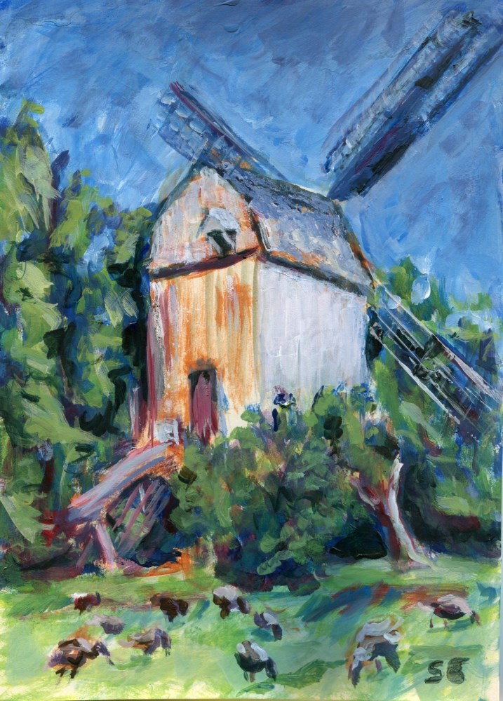 """""""Mill Time"""" original fine art by Stanley Epperson"""
