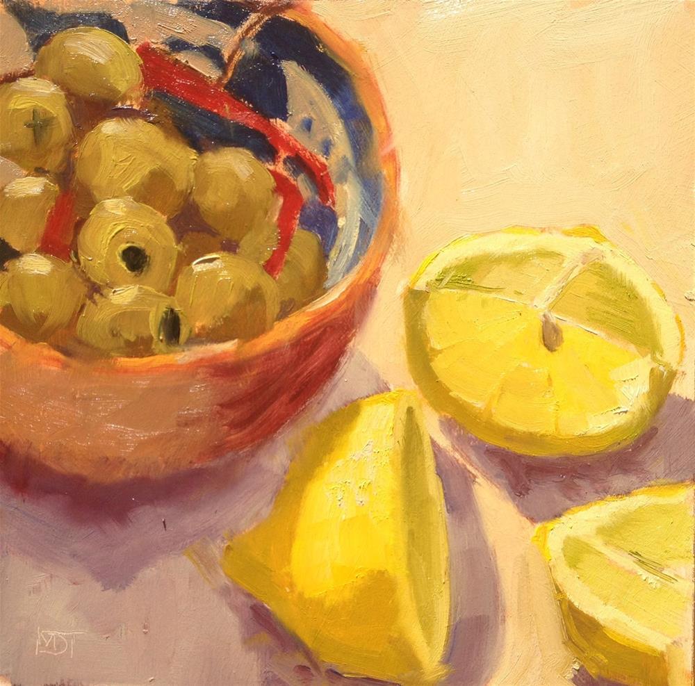 """Olives"" original fine art by Mo Teeuw"
