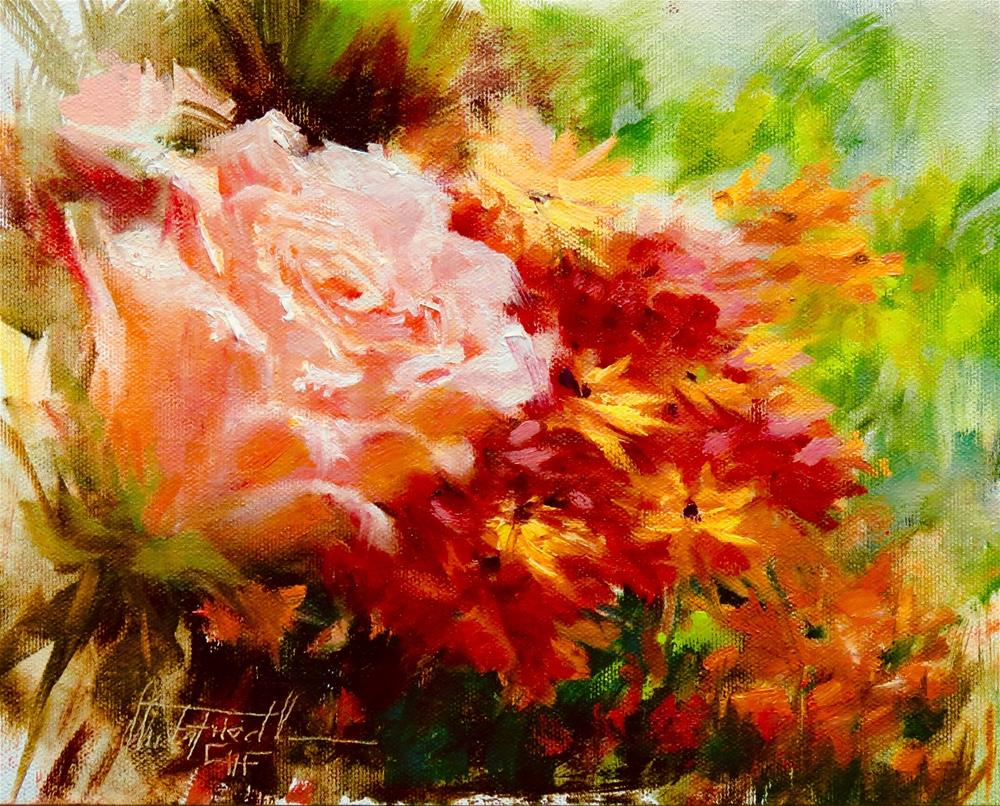 """Florals"" original fine art by Christa Friedl"