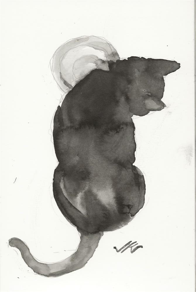 """Daily Cat 82"" original fine art by Jean Krueger"