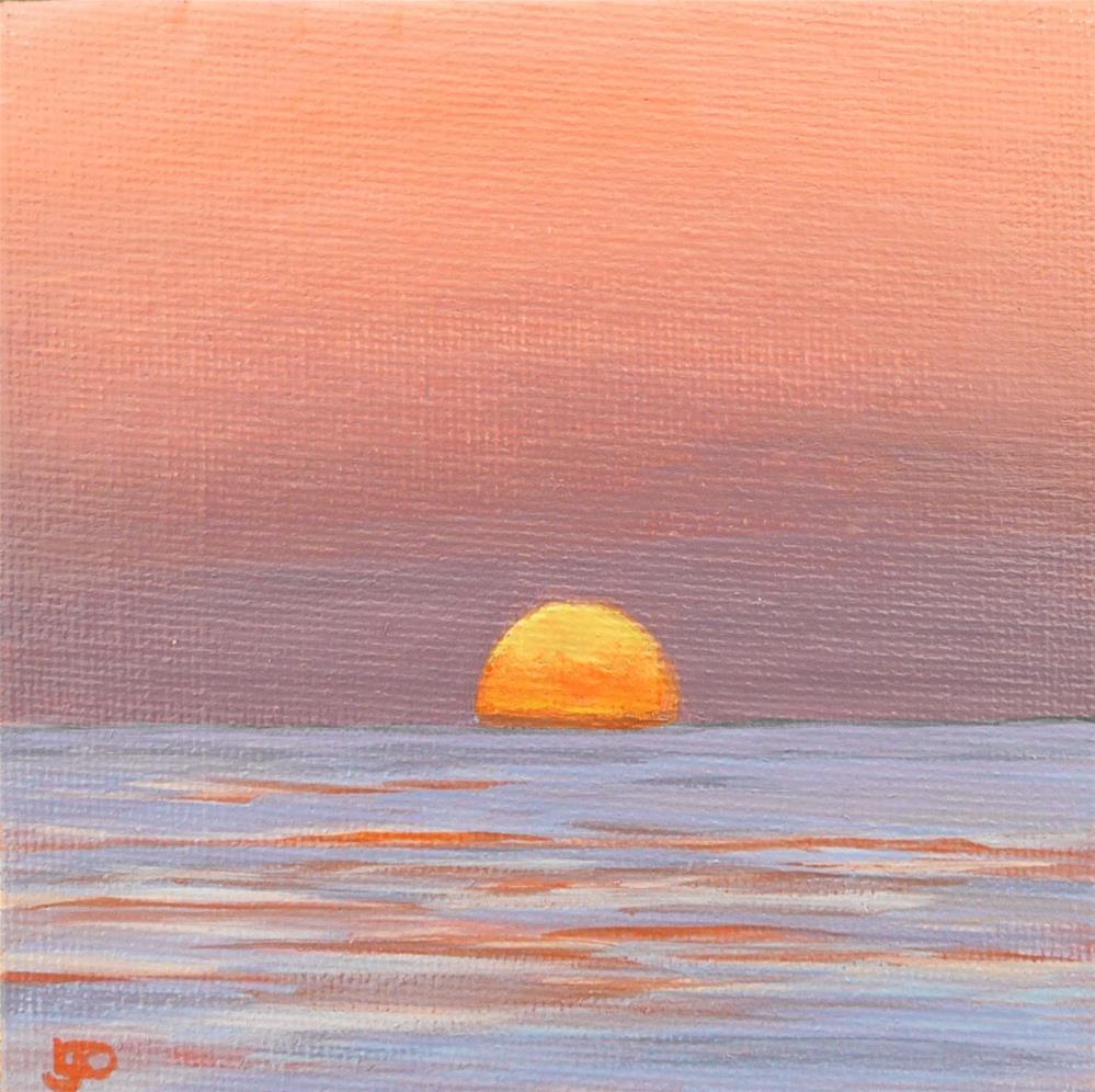 """Sunset"" original fine art by Leanne Owen"