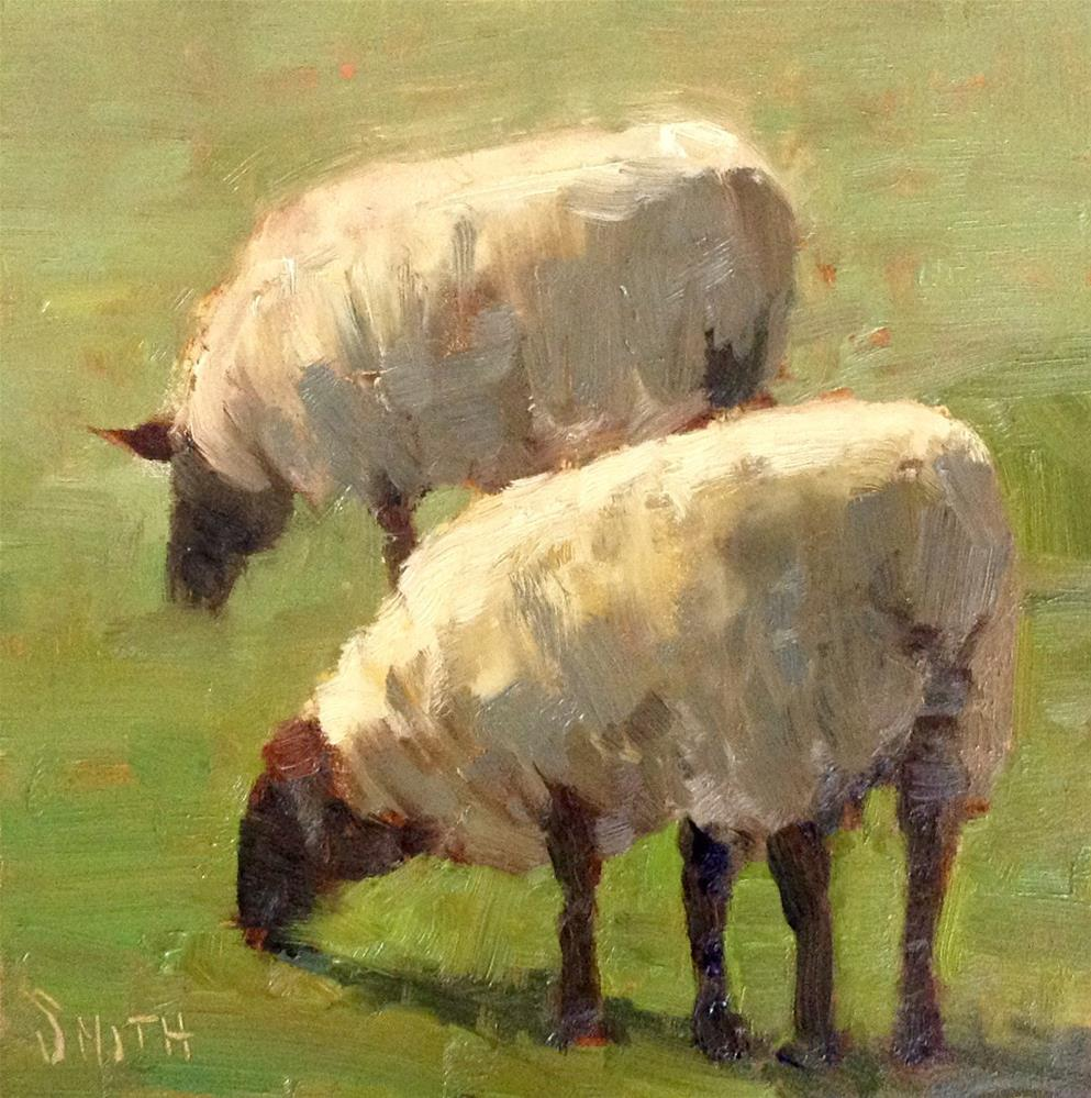 """Side By Side"" original fine art by Barbie Smith"