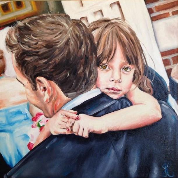"""""""Daddy's little girl"""" original fine art by Jacinthe Rivard"""