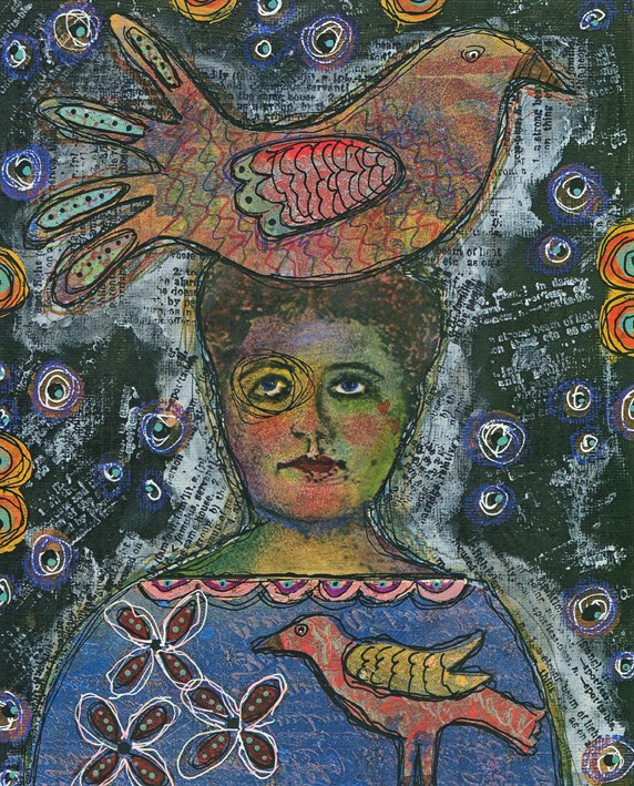 """Bird Head"" original fine art by Sonja Sandell"