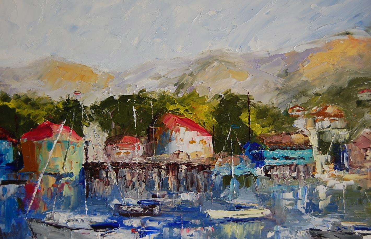 """East Coast Summer"" original fine art by Deborah Harold"
