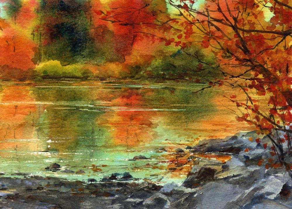 """""""Reflections of Gold"""" original fine art by Linda Henry"""