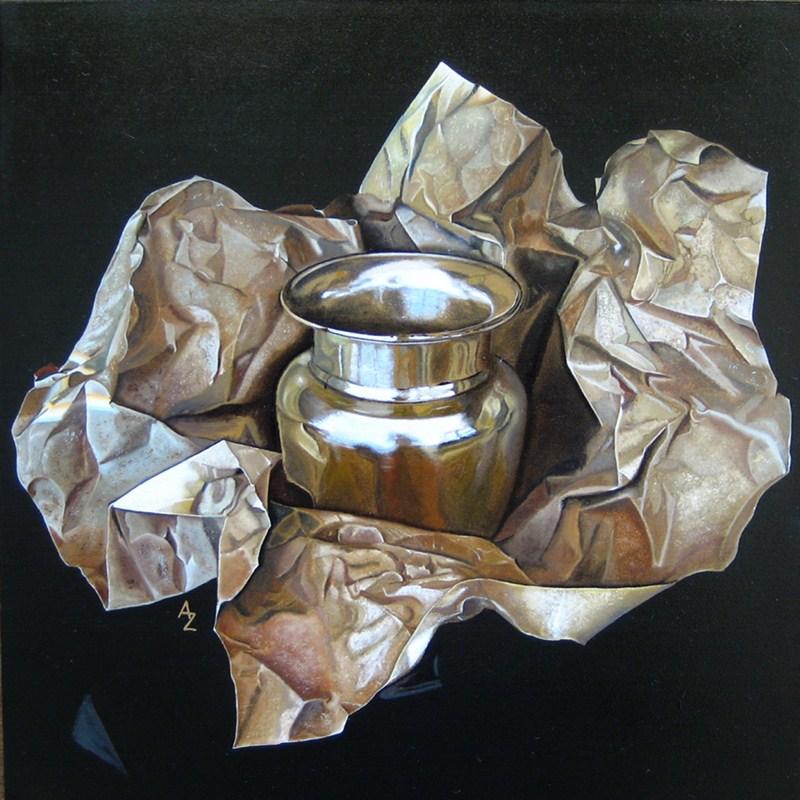 """Unwrapping"" original fine art by Alex Zonis"