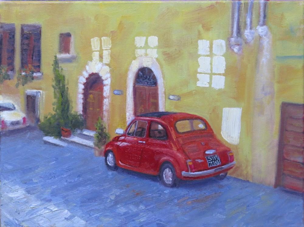 """Reflecting on Montepulciano"" original fine art by Richard Kiehn"
