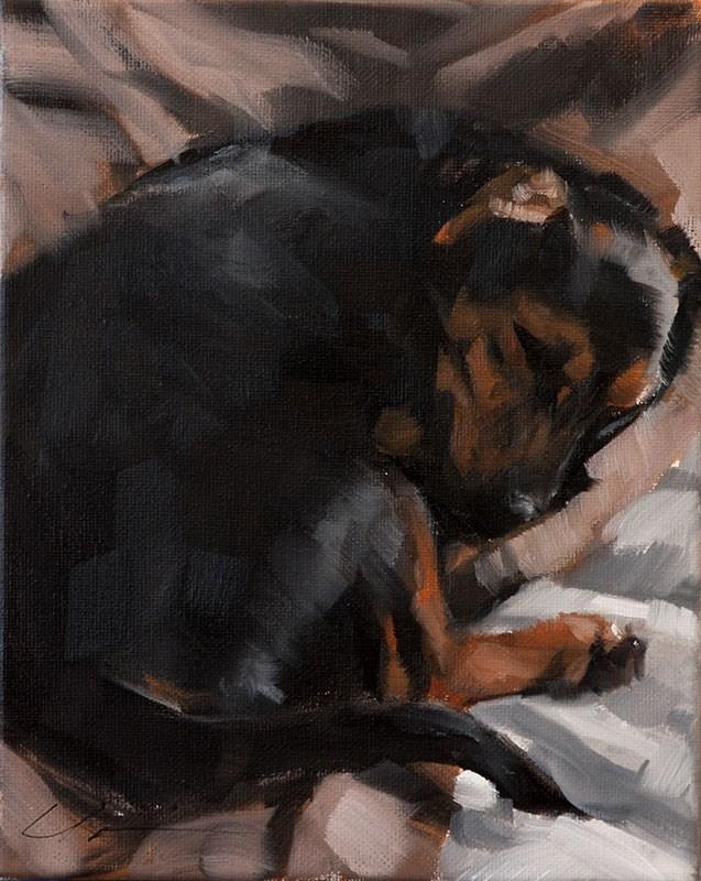 """""""Baxter"""" original fine art by Clair Hartmann"""