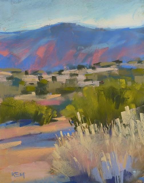 """""""Mini Pastel Demo ...Morning in the Desert"""" original fine art by Karen Margulis"""