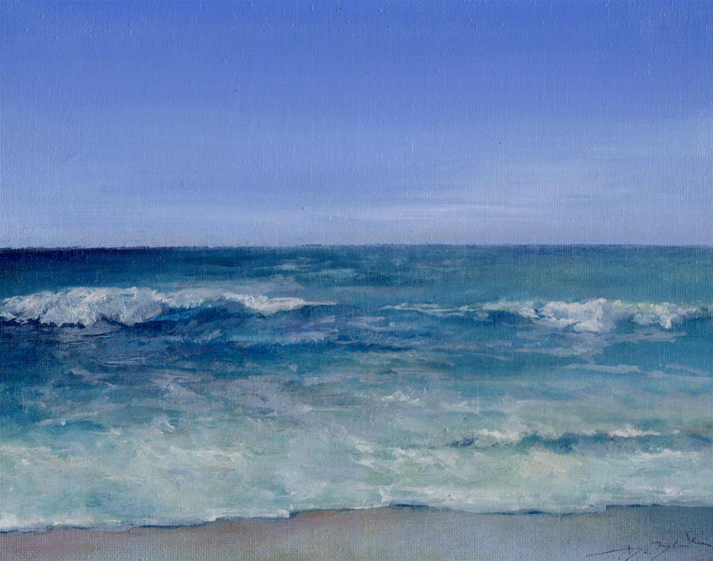 """ocean in Myrtle beach"" original fine art by Mark DeBak"