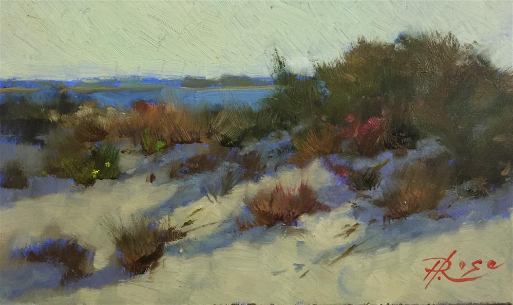 """Bay beach"" original fine art by Howard Rose"