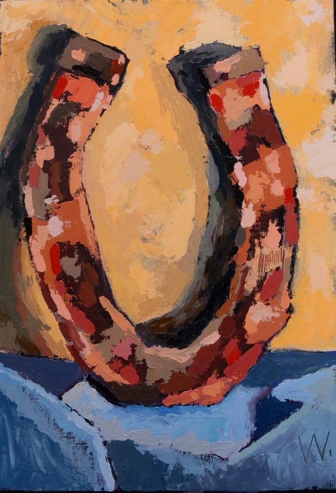 """""""Good Luck"""" original fine art by Joan Wiberg"""