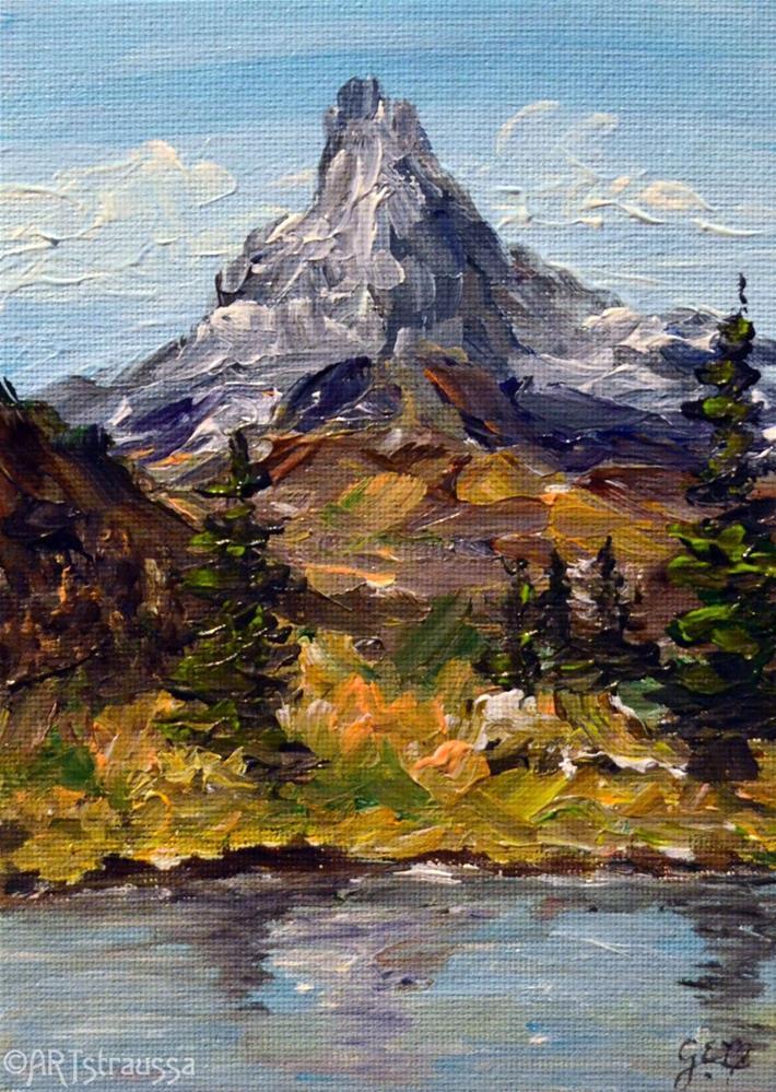 """Matterhorn Swiss Peak"" original fine art by Gloria Ester"