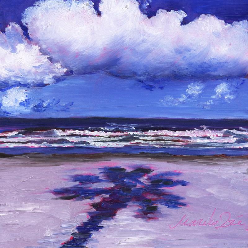 """Big White Cloud"" original fine art by Mariko Irie"