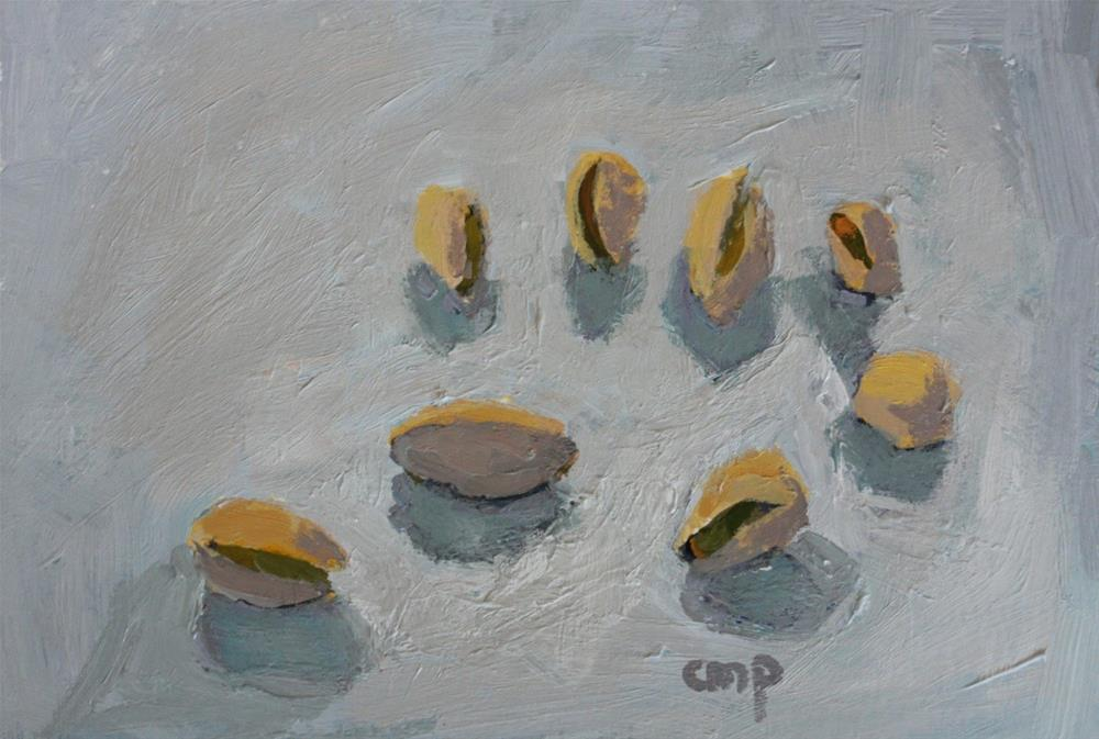 """Still life with Pistachios"" original fine art by Christine Parker"