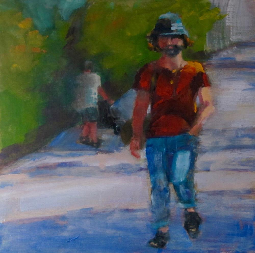 """Stroll Down the Street"" original fine art by Christine Holzschuh"