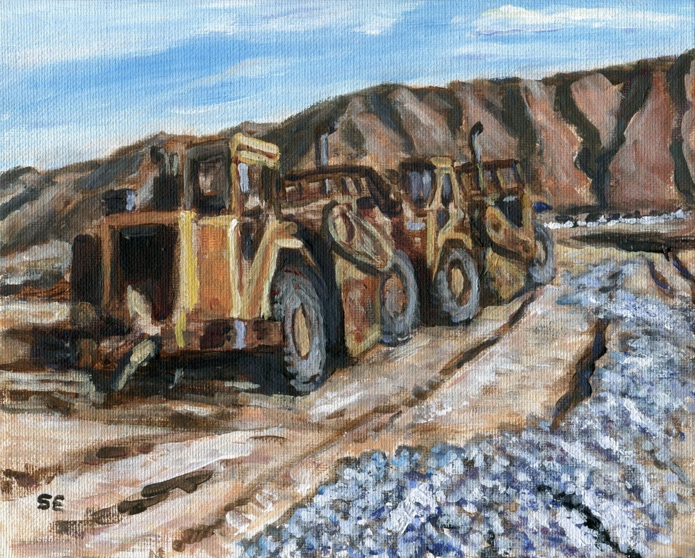 """""""The Eve Of Construction"""" original fine art by Stanley Epperson"""