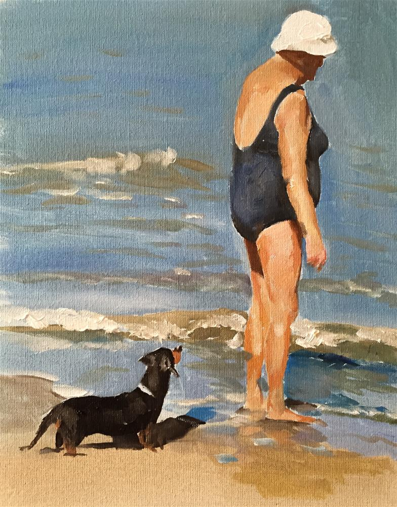 """At The Beach"" original fine art by James Coates"