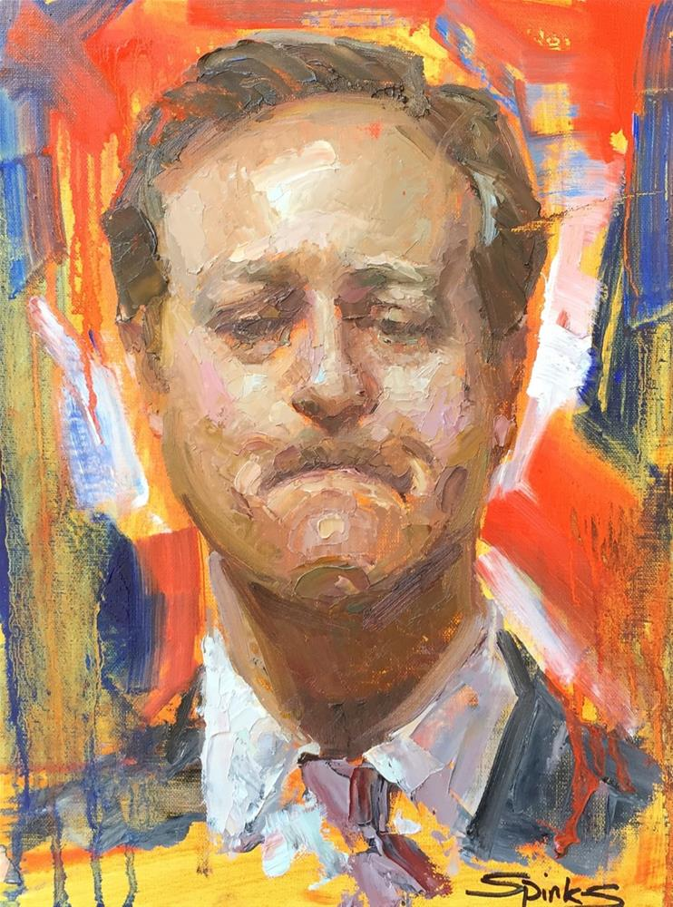 """Brexit - David Cameron"" original fine art by Johanna Spinks"