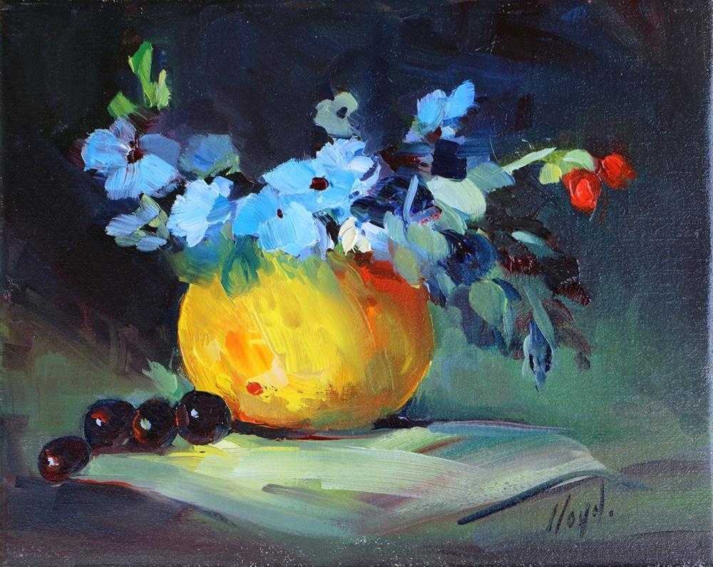 """Four Grapes"" original fine art by Diane Lloyd"