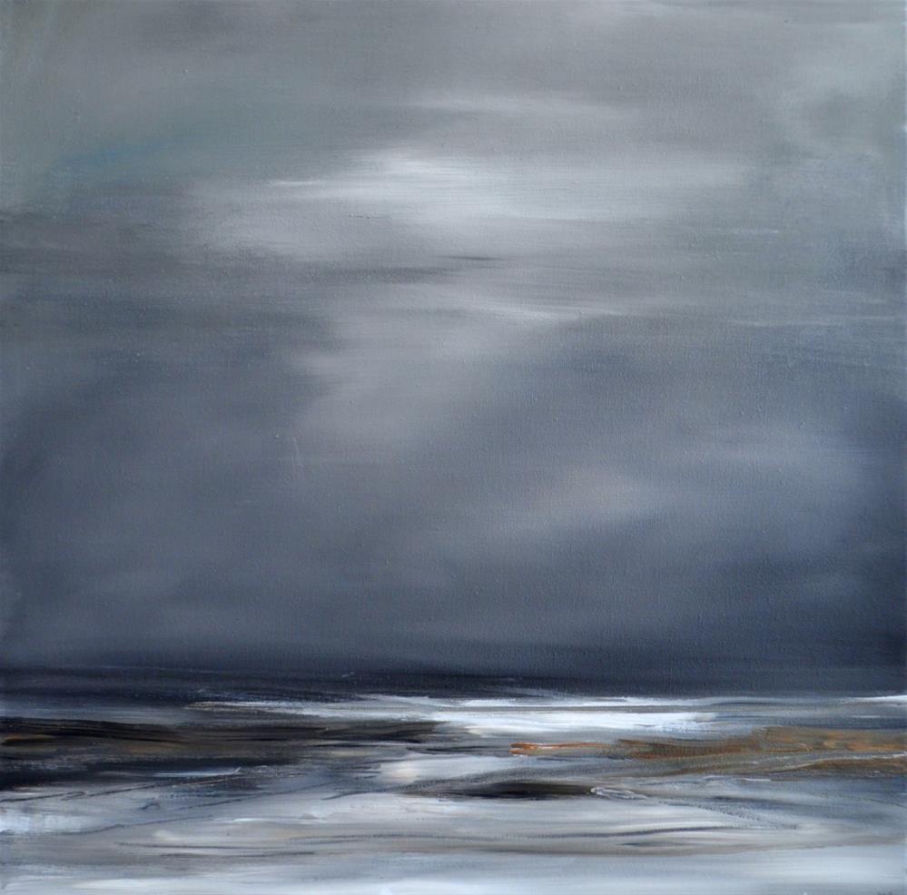 """Abstract seascape"" original fine art by Wim Van De Wege"