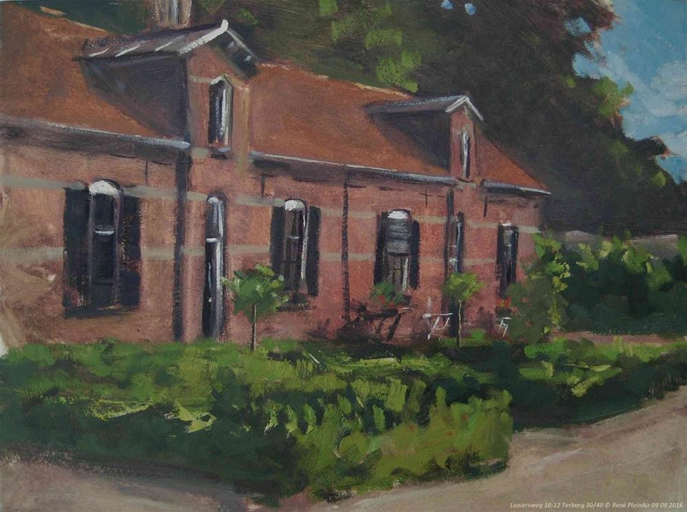 """Looiersweg 10-12 Terborg, The Netherlands."" original fine art by René PleinAir"