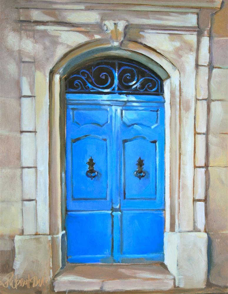 """""""La Porte Bleu"""" original fine art by Jane Robertson"""